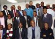 Some executives of the UK Chapter of APC pose with the chieftains