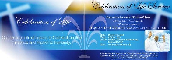 Pro Fakeye Celebration of Life
