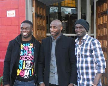 Sam Sodje, Jason Roberts and Efetobore Sodje