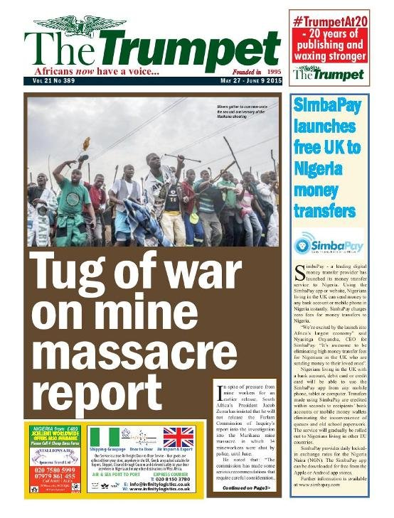 The Trumpet Newspaper Issue 389 (May 27 - June 9 2015)