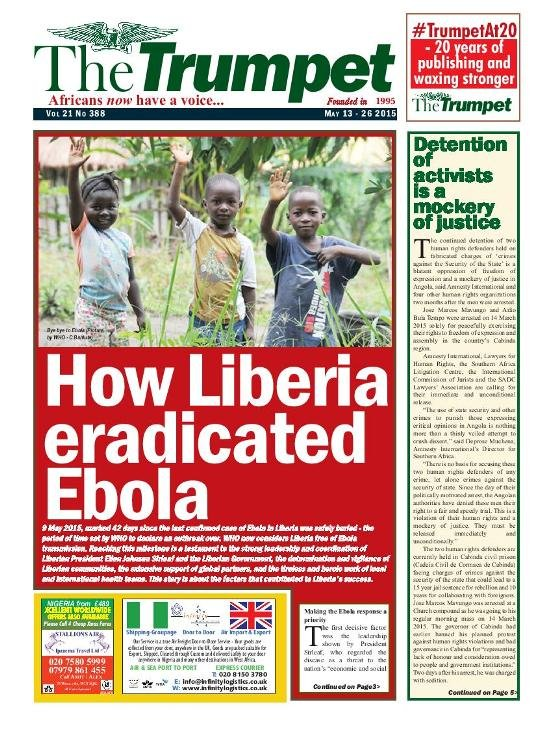 The Trumpet Newspaper Issue 388 (May 13 - 26 2015)