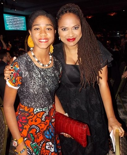 Zuriel Oduwole wIth Director Ava DuVernay