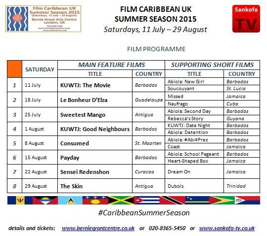 Film Caribbean UK Summer Season 2015