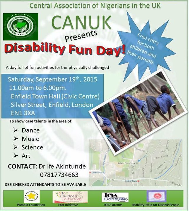 CANUK Disability Day 2015 flyer
