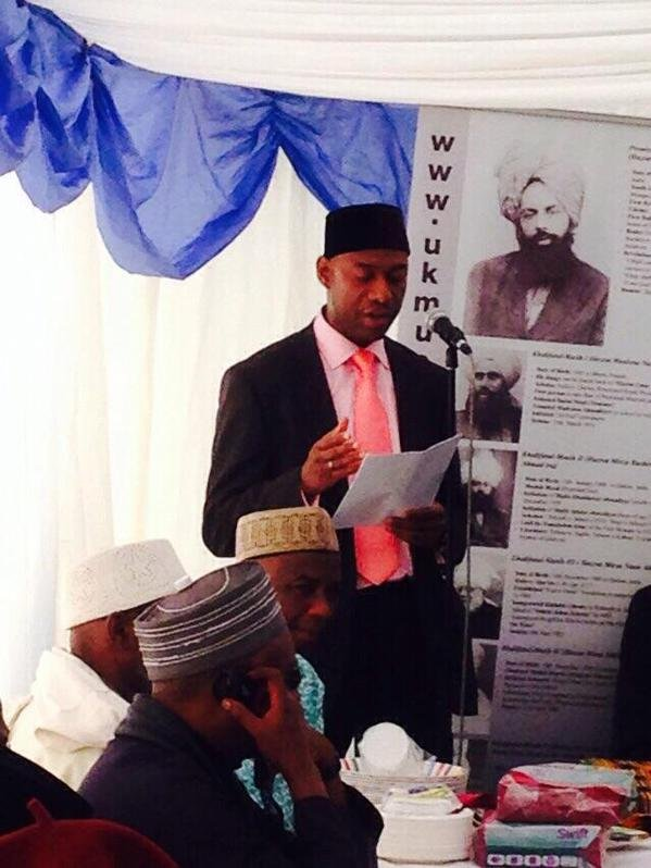 Pan-African Ahmadiyya Muslim Association (PAAMA) UK President at the Jalsa Salana