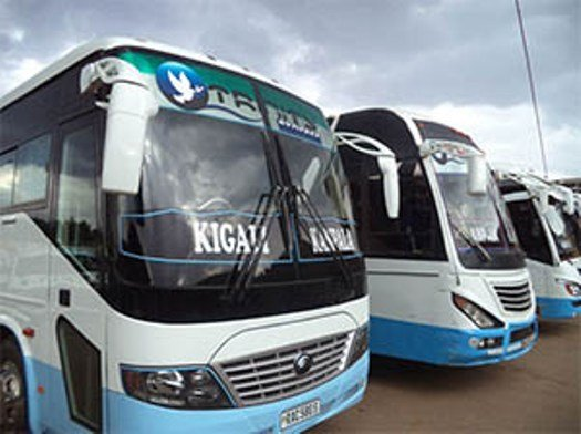 There are buses from Kampala to Kigali
