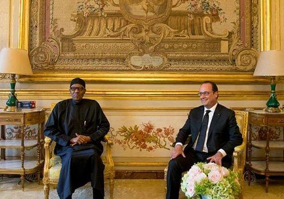 President Muhammadu Buhari with President Francoise Hollande