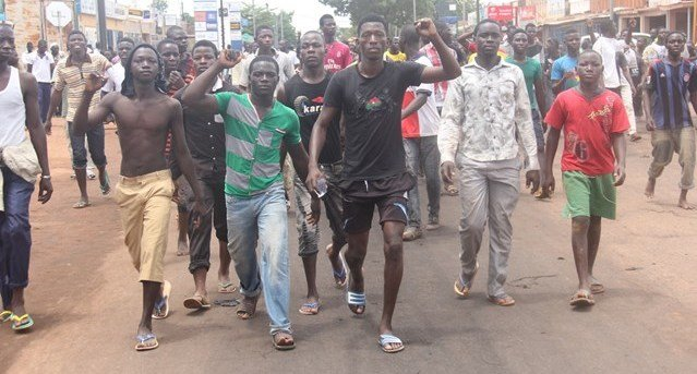Despite clear display of their peaceful intent, soldiers opened fire on protesters in Burkina Faso without warning