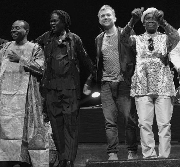 Toumani Diabate ,Baba Maal, Damon Albarn ,Tony Allen at Africa Utopia