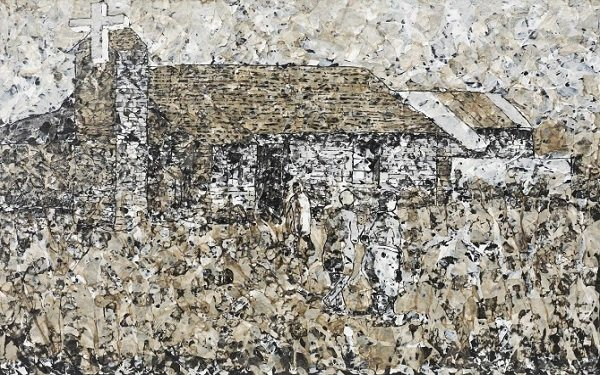 'Church' by Mbongeni Buthelezi. Of his art he says he is interested in - (finding) the details close up, but also see the whole story as you view it from afar.