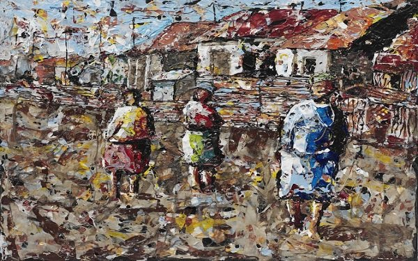 'Winter in Kliptown' by Mbongeni Buthelezi, exhibited at the Seippel Gallery in Koln, Germany.