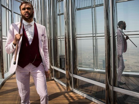 Jidenna stepping out in a classic man style