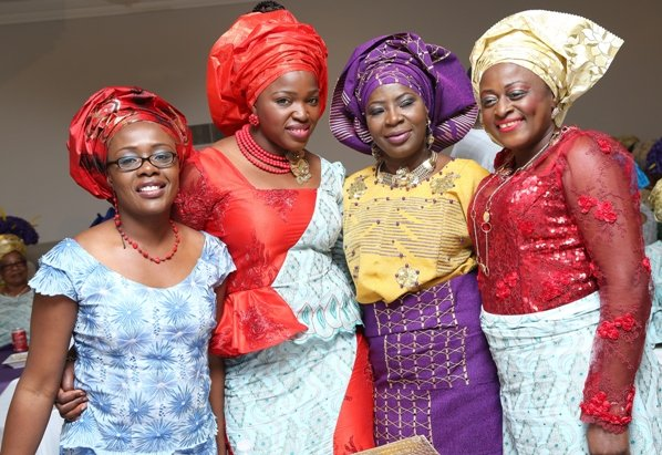 Celebrant poses with friends