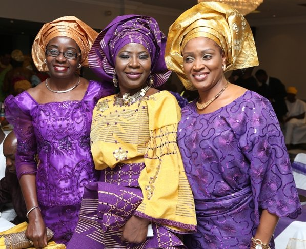 Celebrant with Mrs Katakwe and Mrs Tijani