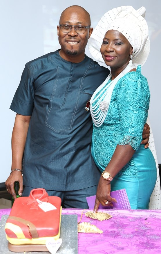 Husband - Remi, who turned 50 in January was also celebrated