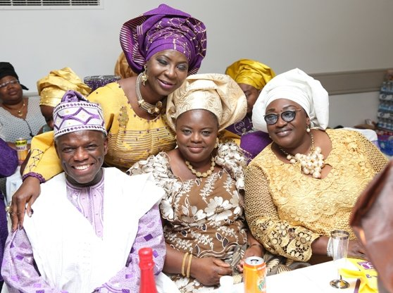 In the company of Mr Marcel Martins, Mrs Titi Akinyanju and Mrs Dolly Ajayi