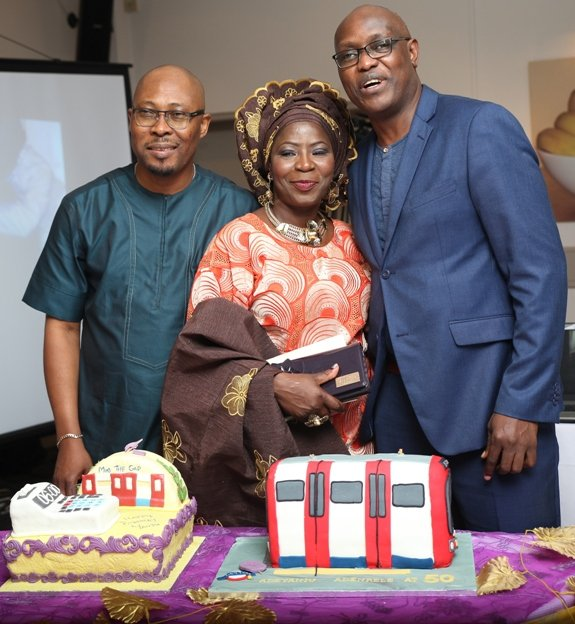 Mr & Mrs Sosanya with the CEO of AfricaWeb TV - Femi Soewu
