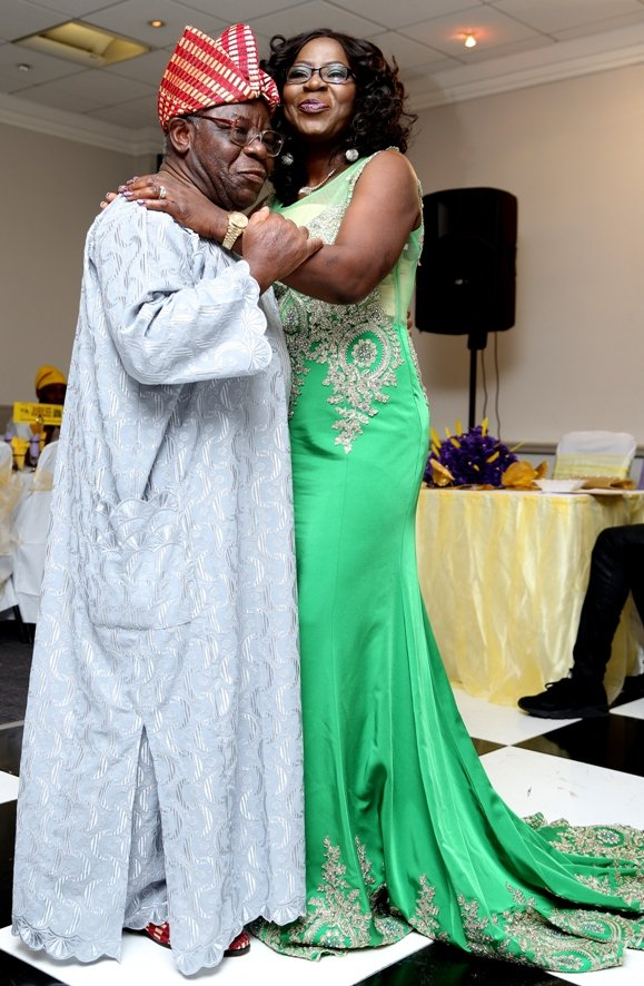 The celebrant dances with her dad