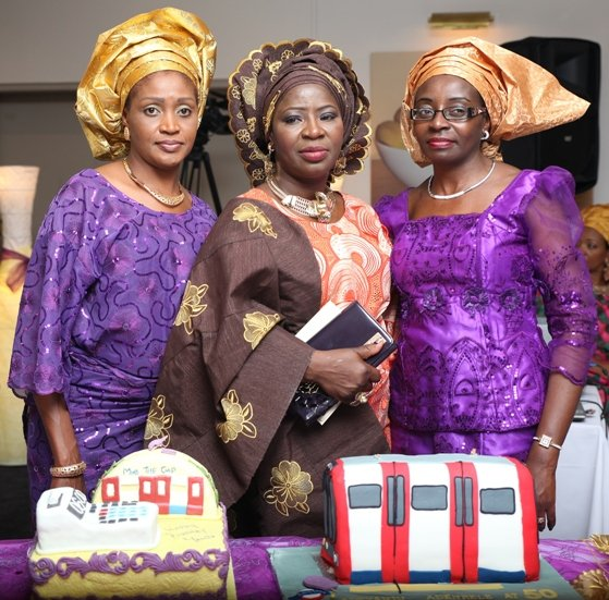 With friends Mrs Funke Tijani and Mrs Katakwe