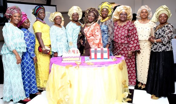 With members of her Church's Martha band
