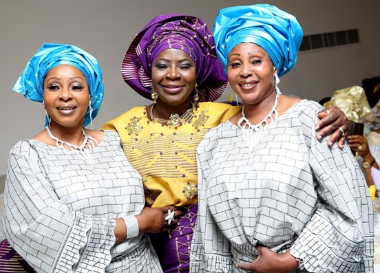 With Twin-sisters Mrs Ayodele and Mrs Akande