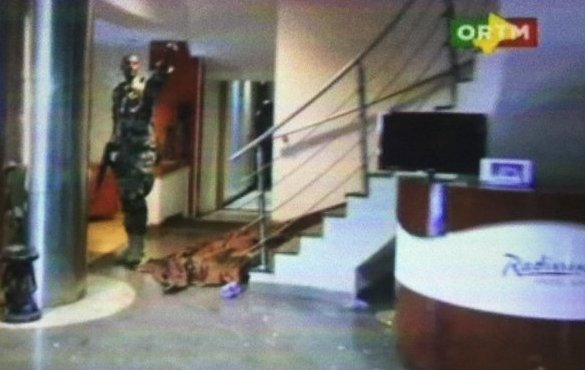 The hotel lobby after the attack
