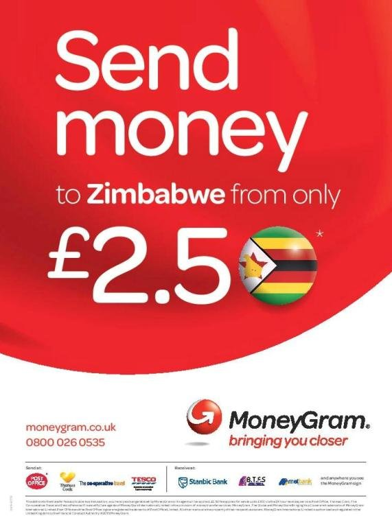 Send money to Zimbabwe from £2.50