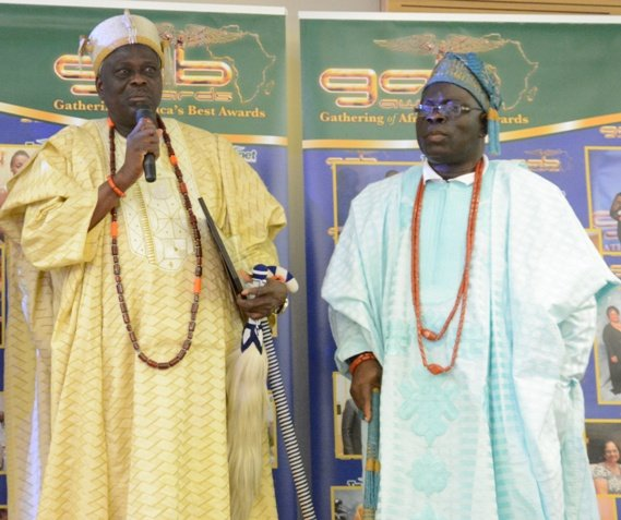 Oba Agoro and Oba Ogunlaja received the Award on behalf of the Lagos State Council of Obas and Chiefs