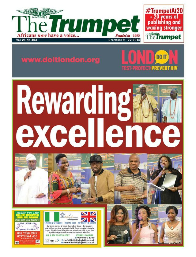 The Trumpet Newspaper Issue 403 (December 9 - 22 2015)