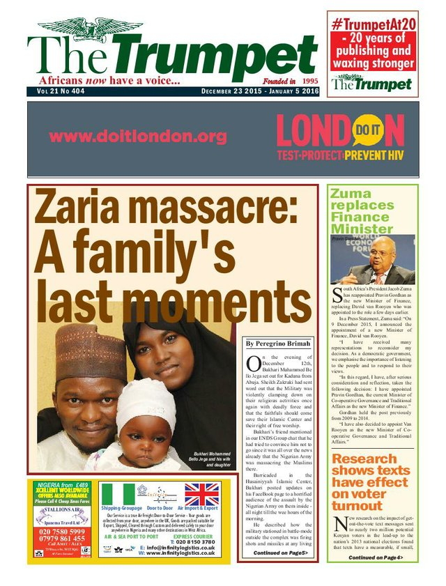 The Trumpet Newspaper Issue 404 (December 23 2015 - January 5 2016)