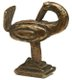 Tiny brass statue of a Sankofa bird, used for weighing gold.