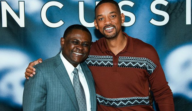 Dr Omalu and Will Smith