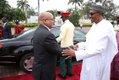 President Buhari receiving President Zuma.jpg