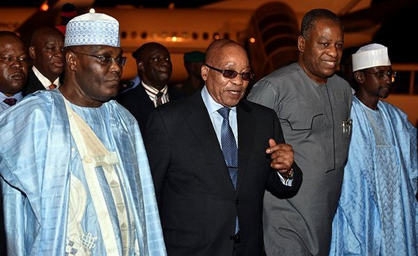 President Jacob Zuma on arrival in Abuja.jpg