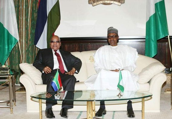 Zuma and Buhari in a tetea tete.jpg