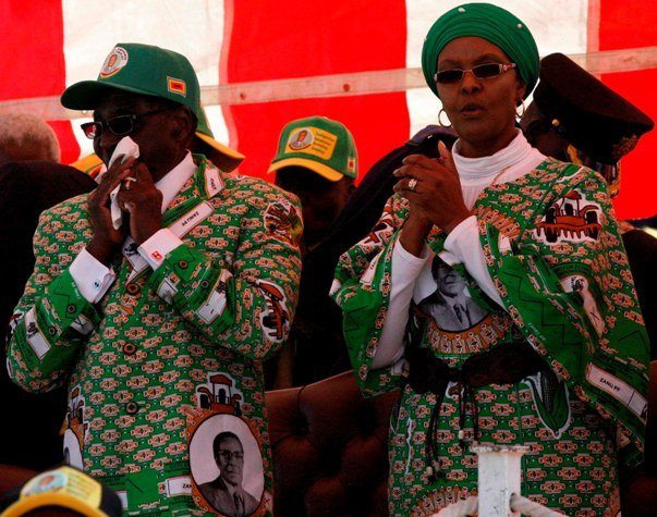 President Robert Mugabe and his wife - Grace