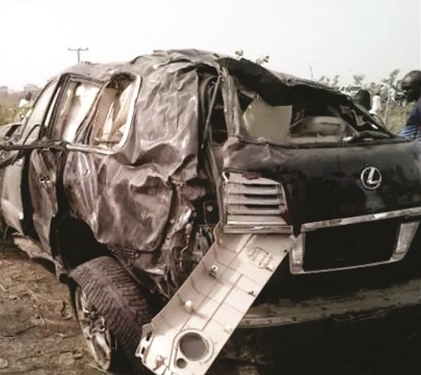 James Ocholi car crash