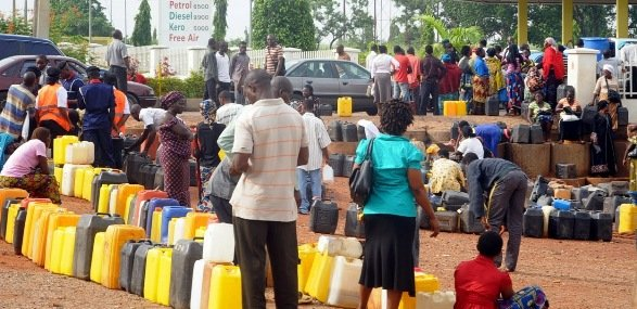 Fuel scarcity in Nigeria has resulted in long queues at Petrol stations