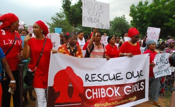 Bring Back Our Girls during a demonstration
