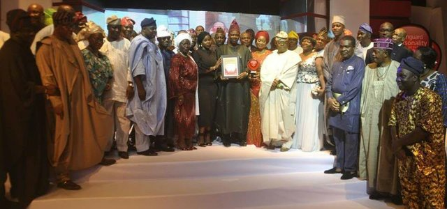 Celebrating the achievements of Amosun and his team
