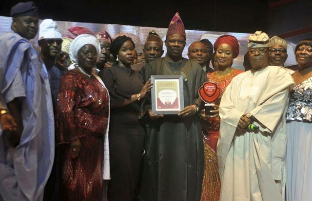 Ogun State cabinet members celebrating with Amosun