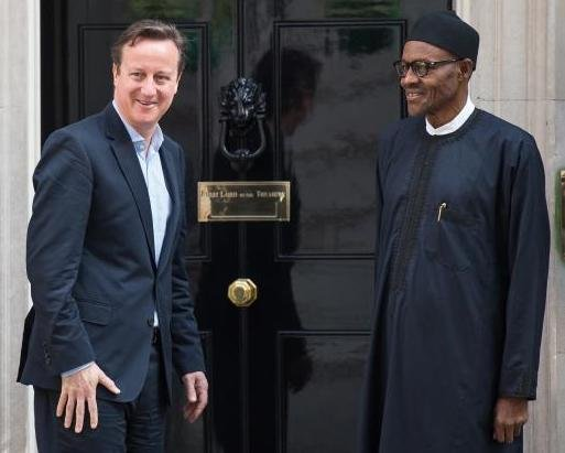 David Cameron and Muhammadu Buhari