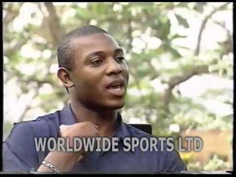 Stephen Keshi speaking to Segun Odegbami as a Player in 1994