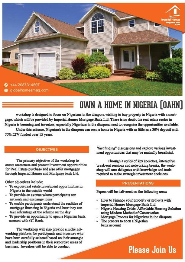 Own a Home in Nigeria (Front)