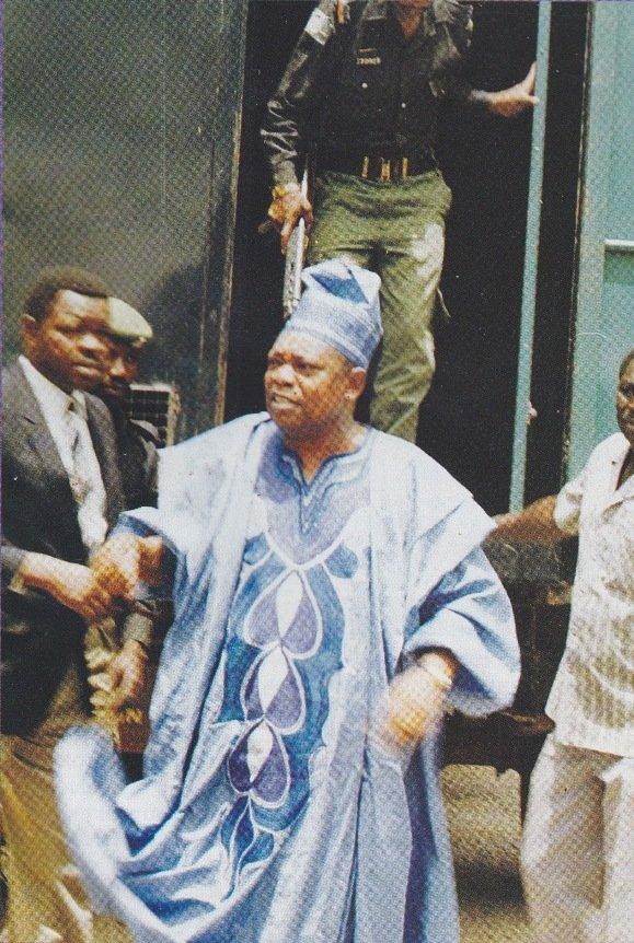 Moshood Abiola - Arrested
