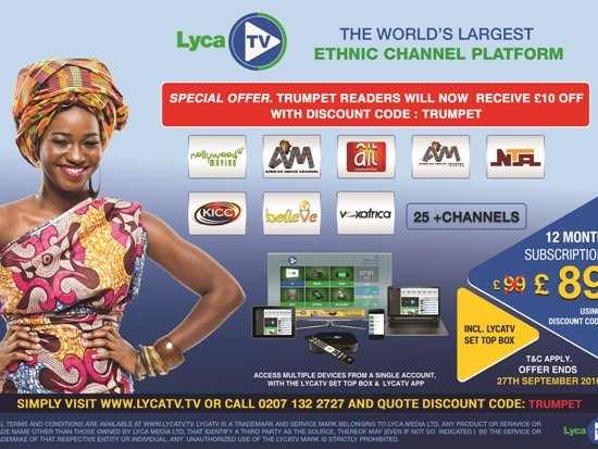 Lyca TV offers discount to Trumpet readers