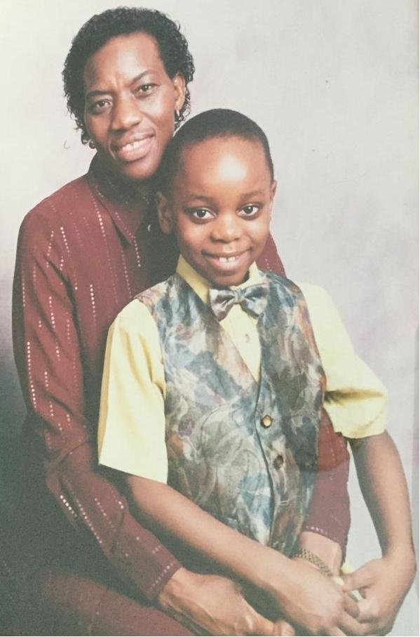 A younger Matthew Kitandwe and his mother Rose