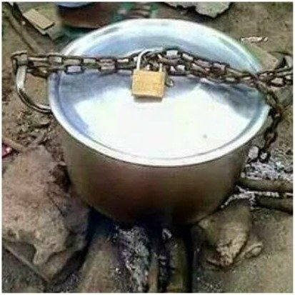 Pots of soup are now secured to prevent theft