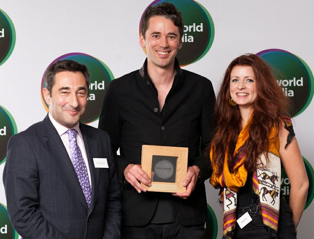 Television Documentary Award - From left, Jonathan Charles, EBRD, Dan Edge, Mongoose Pictures, and Sasha Achilli, Producer