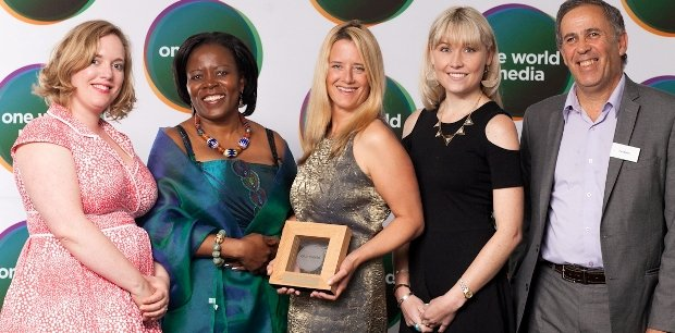 Winners of the Women's Rights in Africa Award with Dr Sipho Moyo of African Development Bank